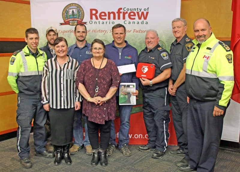 AED Donation to the County of Renfrew